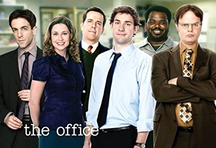 amazon com the office cast group tv show double sided postcard