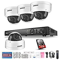 ANNKE 8 Channel POE NVR Video Surveillance Camera System with HD 1080P Nework IP Home Security Camera and 2TB Professional Hard Drive, Email Alarm, Motion Detect, Compatible with POE Switcher