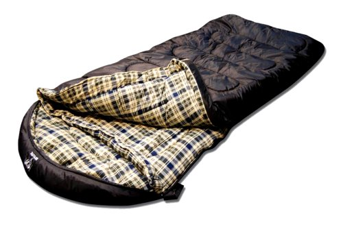 Grizzly -50 Degree RipStop Sleeping Bag (Black), Outdoor Stuffs