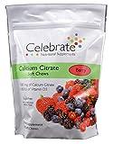 Celebrate Calcium Citrate 500 mg, 500 IU of vitamin D3. Sugar-Free, Soft Chews Berry 90 count
