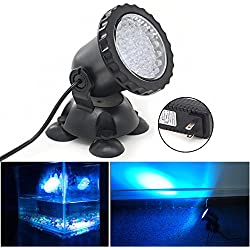 Xcellent Global 3.5W 36LED Underwater Aquarium Spot Light for Garden Pond Fish Tank Fountain Rockery Grass Land (BLUE) LD105