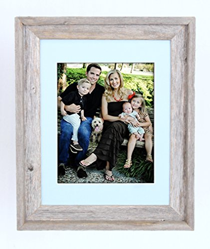BarnwoodUSA 16x20 Inch Signature Picture Frame For 11x14 Photo - 100% Reclaimed Wood, Fountain -