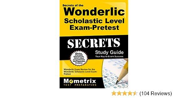 Amazon. Com: secrets of the wonderlic scholastic level exam.