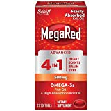 Schiff MegaRed Advanced 4-in-1 Omega-3s + High Absorption Krill Oil Softgels 25 ea (12 Pack)