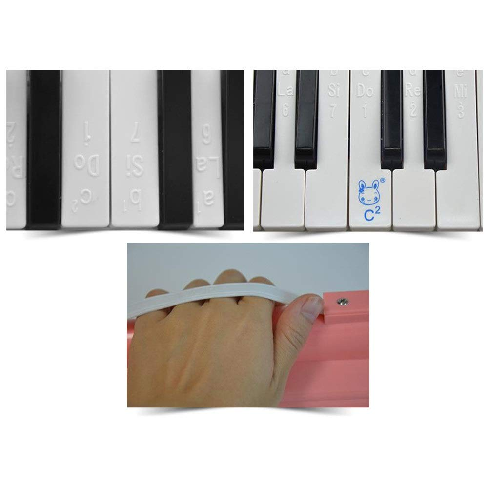 Melodica Musical Instrument Portable 27 Keys Kids Toy Melodica Instrument Piano Style With Carrying Box Keyboard Wind Instrument With Mouthpieces Musical Gift Toys For Kids Beginners Students For Musi by Kindlov-mus (Image #3)