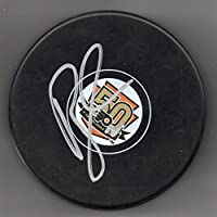 Rick Tocchet Autographed Puck Philadelphia Flyers 50th Anniversary Puck