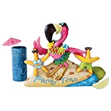 Design Toscano Party Time Pink Flamingo Statue