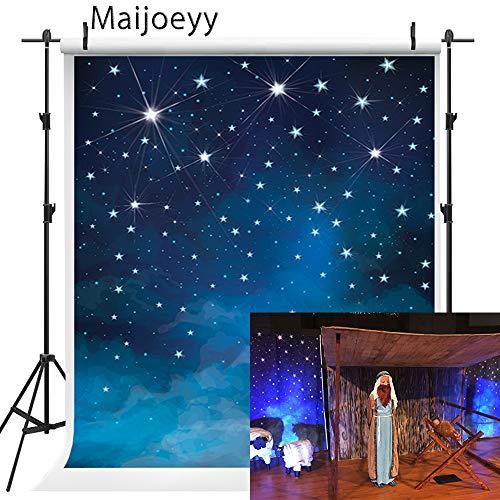 5x7ft Children Baby Newborn Backdrops Photography Backdrops Blue Starry Night Backdrop for Kids Photography Props Sky Star Backdrop Photography Props J01780