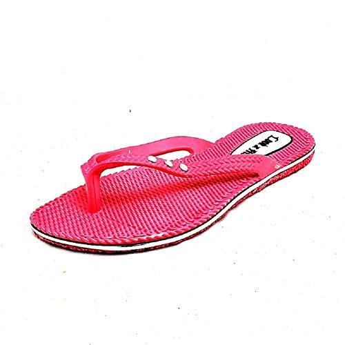 Strand Fuchsia Flexible Gummi Flip SendIt4Me Flops Sandalen Damen ZqtnczyWUF