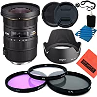 Sigma 10-20mm f/3.5 EX DC HSM ELD SLD Aspherical Super Wide Angle Lens for Nikon Digital SLR Cameras - Starter Kit