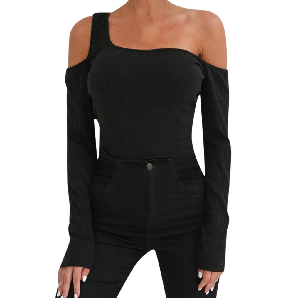 Wintialy Womens Summer Casual Off Shoulder T-Shirt Ladies Long Sleeve Blouse Tops