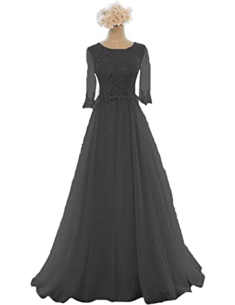 7e0cc176163 Women s Long Scoop Lace Tulle Dresses for Special Occasions Black Size 2