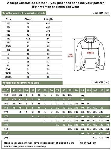 WANXX Sweat Imprimé Numérique 3D Pull À Capuche Grande Taille Gradient Sweat-Shirt À Deux Tons Couple Hoodies,F,150