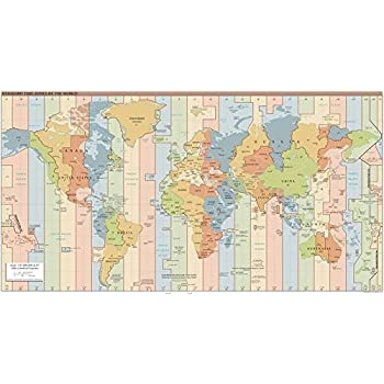 Amazon.com: Map Poster - Standard time zones of the world. - 24\