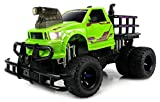 Velocity Toys Jungle Sky Thunder Dually Electric RC Monster Truck Big 1:12 Scale RTR w Working Headlights - Dual Rear Wheels (Colors May Vary)