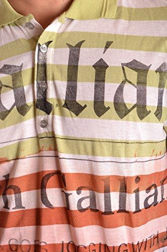 Galliano Herren MCBI130108O Multicolour Polyester Poloshirt