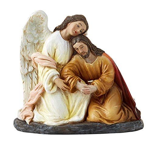 - Agony at Gethsemane Statue. Beautifully Detailed and Perfectly Sized For Any Office or Small Chapel.