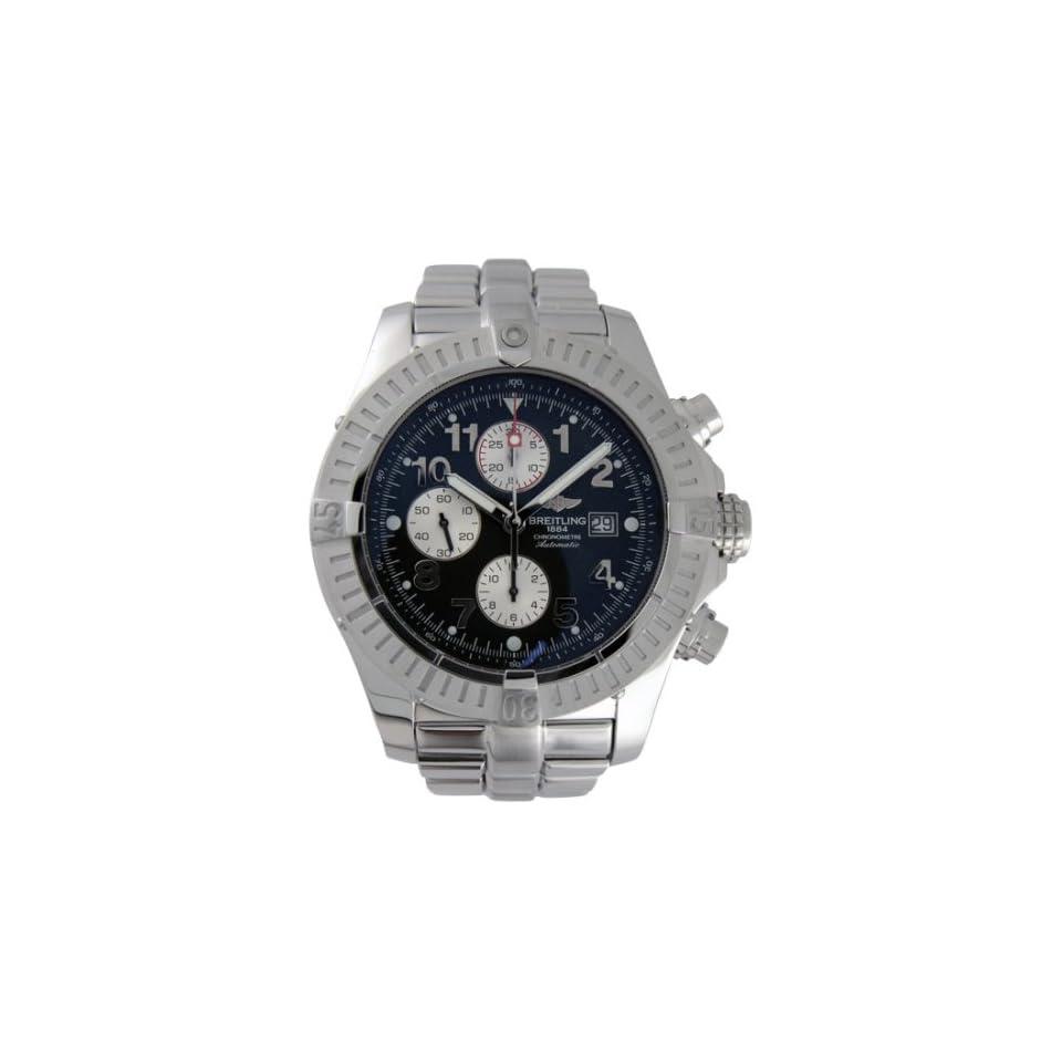 Breitling Aeromarine Super Avenger Steel Black Mens Watch A1337011 B6 891A