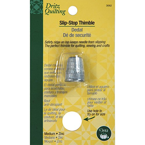 Dritz Slip-Stop Thimble for Quilting-Extra Large