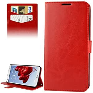 DIYLooks Fine Sheepskin Texture Flip Mobile Phone Left and Right Leather Case with Credit Card Slots & Holder for LG Optimus G / Pro 2