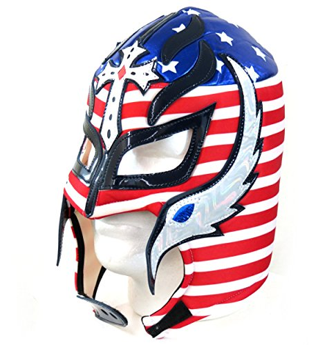 Rey Mysterio Adult Lucha Libre Wrestling Mask (Pro-fit) Costume Wear - USA