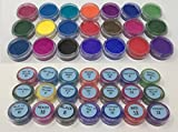 The Magic Chameleon Crafts Company. Thermochromic Temperature Activated Pigment - Multiple Colors and Different Temperature Changes Available. Changes at 88⁰F (31 ⁰C) (2g x 21 = 42g, Sample Packages)