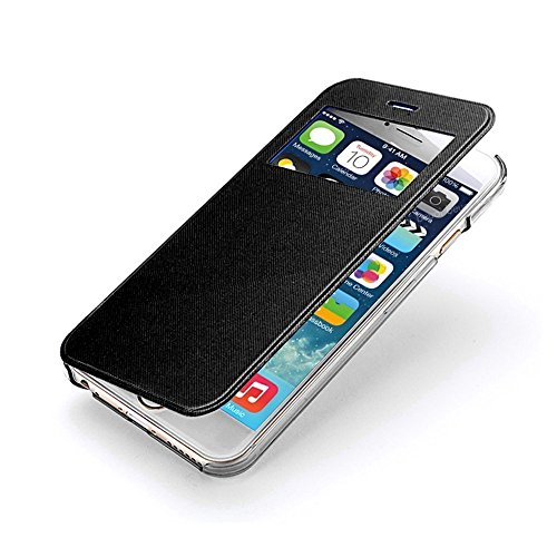 VSHOP ® Etui coque housse flip cover view iphone 6, 6s noir