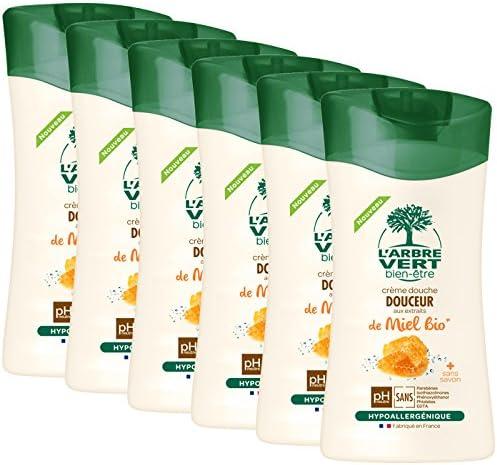 Larbre vert Bien-être Crème Douche Miel aux Extraits de Miel Bio - Pack de 6: Amazon.es: Belleza