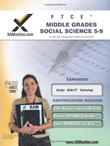 ftce middle grades social science 5 9 teacher certification test rh amazon com Science Study Guides Book Science Crossword Puzzles
