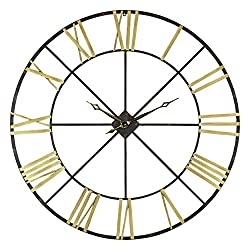 Aspire Wall Clock Baldwin Oversized 48 Metal, Gold