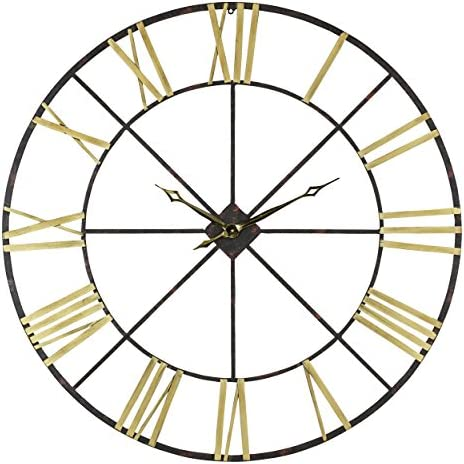 Aspire Baldwin Oversized 48″ Metal Wall Clock
