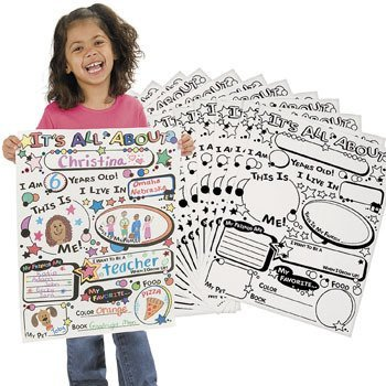 Color Your Own All About Me Posters - Basic School Supplies & Classroom Crafts -