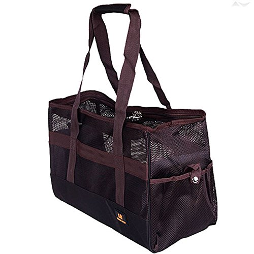 Dog Tote Pet Carrier (DODOPET Small Dog Tote Bag Nylon Breathable Mesh Dog Carrier for Small Dogs & Cats Soft Sided Travel Pet Carrier Shoulder Tote Bag)