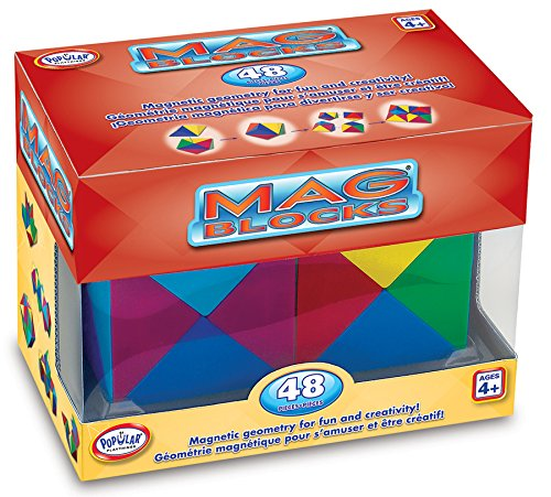 Popular Playthings Mag-Blocks 48-piece Play Set