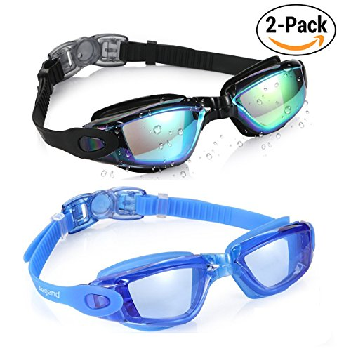 Aegend Swim Goggles, Pack of 2 Swimming Goggles Crystal Clear No Leaking Anti Fog UV Protection Triathlon Swim Goggles with Free Protection Case for Adult Men Women Youth Kids - Prices Goggles