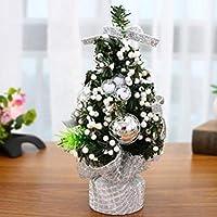 Chytaii 2X Mini Escritorio de árbol de Navidad Decoracion Navideña ...