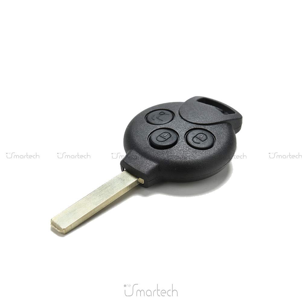 Caparaz/ón dura para llave con control remoto de 3/teclas para coche Car Smart Fortwo 450/451/K Roadster City Coupe Cabrio Forfour Crossblade SM4