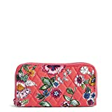 Vera Bradley Women's RFID Georgia Wallet-Signature, coral floral One Size