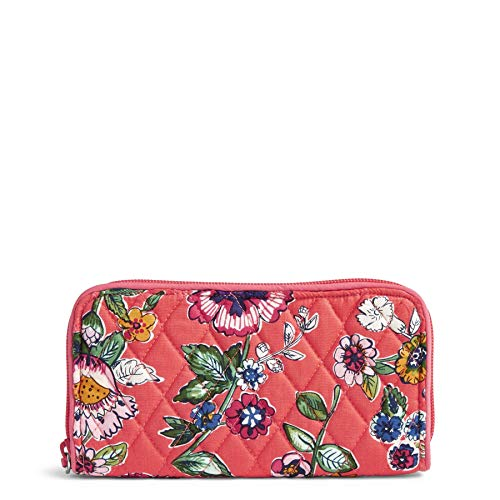 Vera Bradley Women's RFID Georgia Wallet-Signature, coral floral, One Size