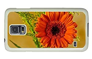 Hipster Samsung Galaxy S5 Case discount covers orange gerbera PC White for Samsung S5