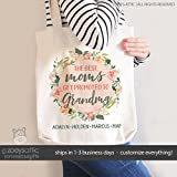 grandma tote bag | the best moms get promoted to grandmas | mother's day tote bag | nana tote bag