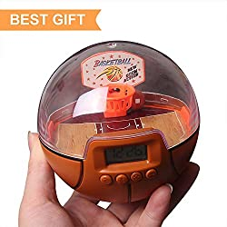 Lymor Mini Basketball Decompression Handheld Shooting Games with Alarm Clock for Kids and Adults Best Holiday Gift