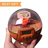 Lymor Mini Decompression Handheld Shooting Games with Electronic Alarm Clock for Kids and Adults Best (Basketball)
