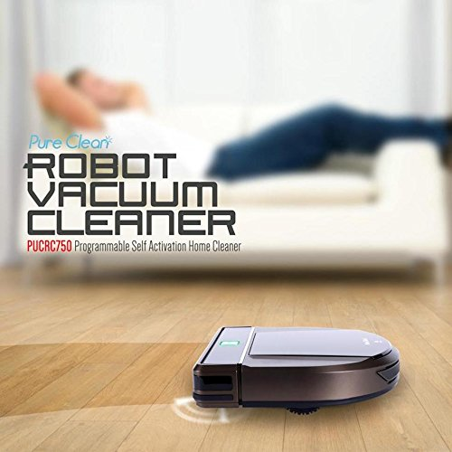 Pure Clean Automatic Robot Vacuum Cleaner Programmable