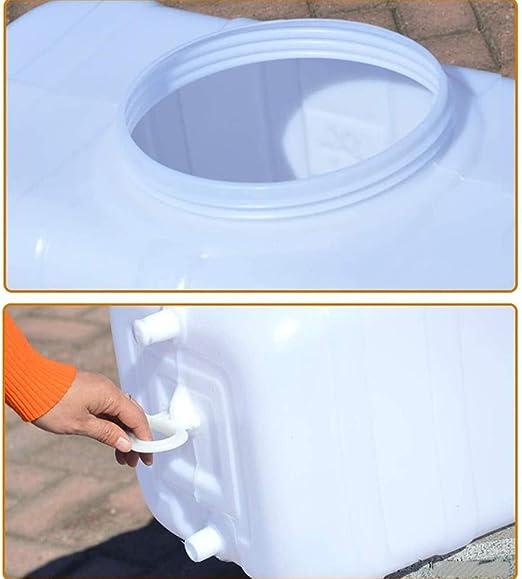 Depósito De Agua For Exterior Con Grifo Blanco, Plástico Grueso Contenedor De Almacenamiento De Agua Cubo De Almacenamiento Portátil For El Hogar Barril De Productos Químicos Industrial Resistente A Á: Amazon.es: Hogar