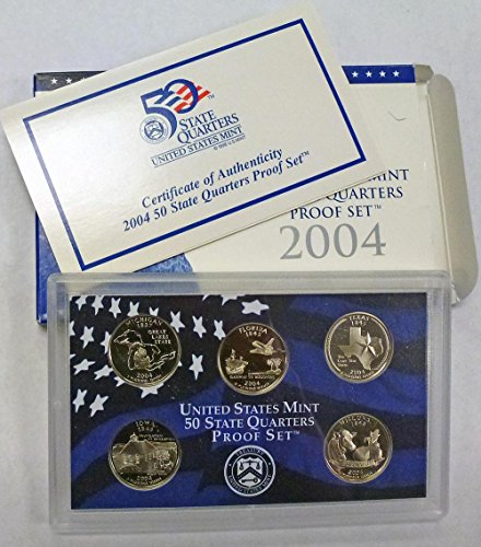 2004 S Statehood Quarters Proof Set Original Mint