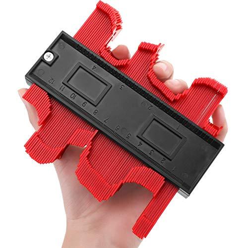 Contour Gauge Duplicator, Contour Copy Duplicator Circular Frame Profile Gauge, Plastic Woodworking Shape Tracing Template Measuring Tool Profile Jig Guide-5Inch   ()