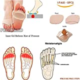 PEDIMEND Non Slip off Metatarsal Pads - Ball of Foot Cushion - Morton's Neuroma Pads - Forefoot Pain Relief – Half Toe Sleeve Fabric Gel Pads – Provide Relief From Blisters / Calluses / Broken Metatarsalgie / Post Surgery / Healing Fracture / Other Foot Pains - UNISEX – Foot Care
