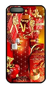 iPhone 5S Case - Customized Unique Design Lots Of Christmas Presents New Fashion PC Black Hard