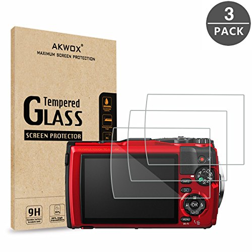 Lcd Protective Glass - (Pack of 3) Tempered Glass Screen Protector For Olympus Tough TG-5 TG-4 TG-3, AKWOX [0.3mm 2.5D High Definition 9H] Anti-scratch Optical LCD Premium Protective Cover